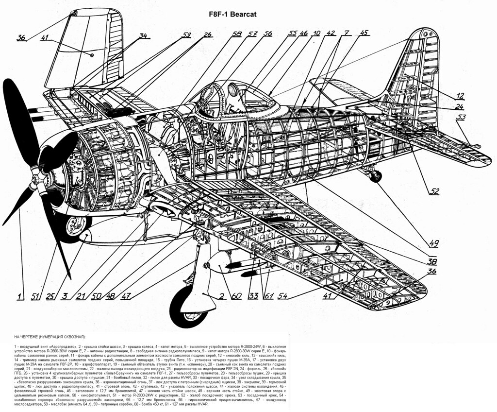 Grumman F8f Cutaway