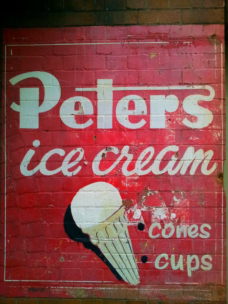 Classic Painted Peters Ice Cream Poster Sydney New South
