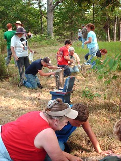Scout groupd cleans Brooks Cemetery