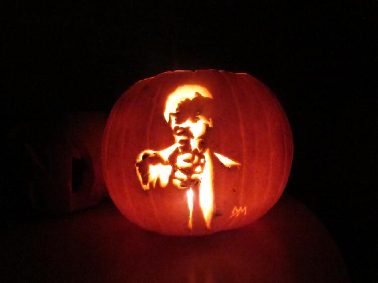 Pulp Fiction Pumpkin Say What Again I Dare You I