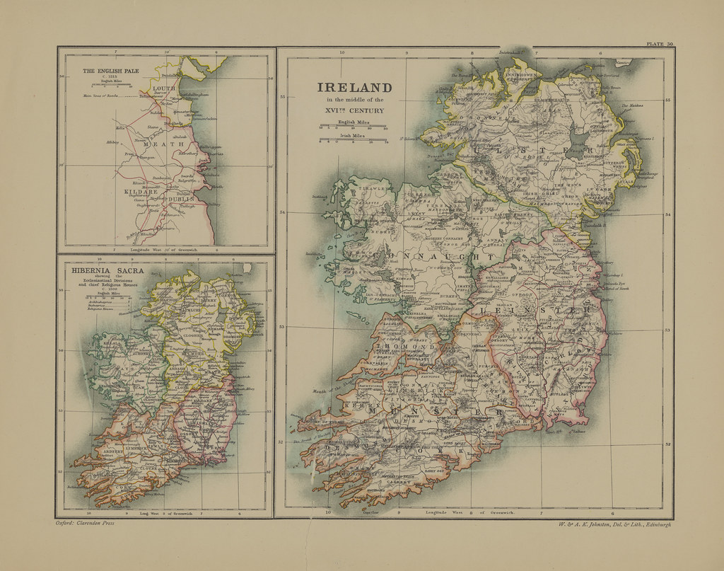 Section XXX Map page of Ireland Under the Early Tudors fro      Flickr     Section XXX Map page of Ireland Under the Early Tudors from Part IV of  Historical atlas