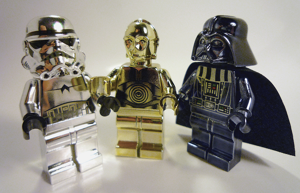 LEGO chrome minifig   All official chrome Star Wars minifigs         LEGO chrome minifig   by Vanjey Lego