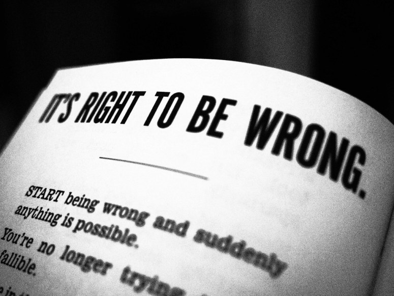 Image result for it's right to be wrong