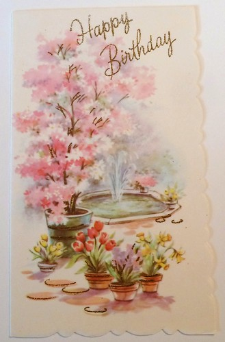 Vintage Birthday Greeting Card Garden Part Of My