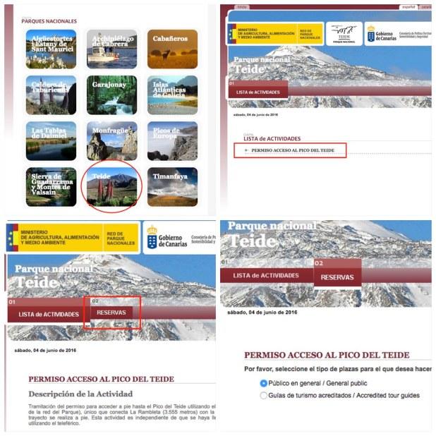 Pedir Permiso para el Pico Teide