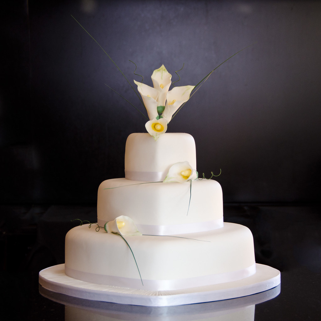 Calla Lily Wedding cake   3 tier dummy wedding cake  with ha      Flickr     Calla Lily Wedding cake   by Mrs Mac s Creative Cakes