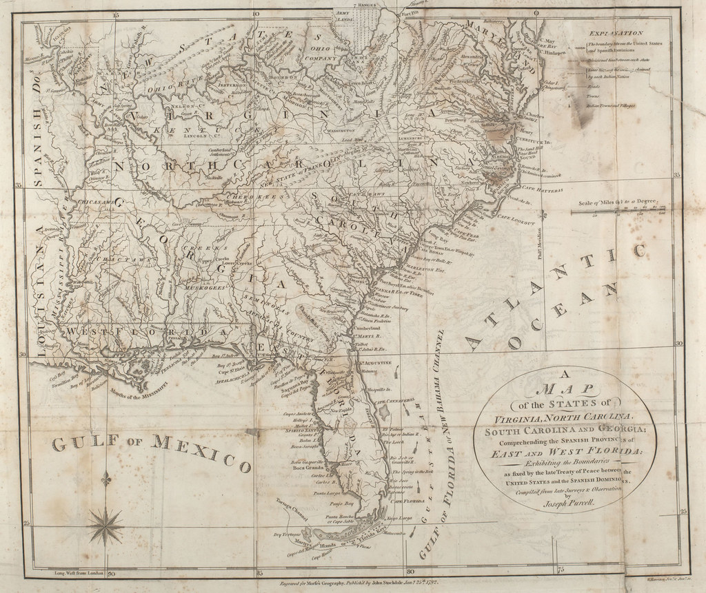 1792 map of the States of Virginia  North Carolina  South       Flickr     1792 map of the States of Virginia  North Carolina  South Carolina and  Georgia