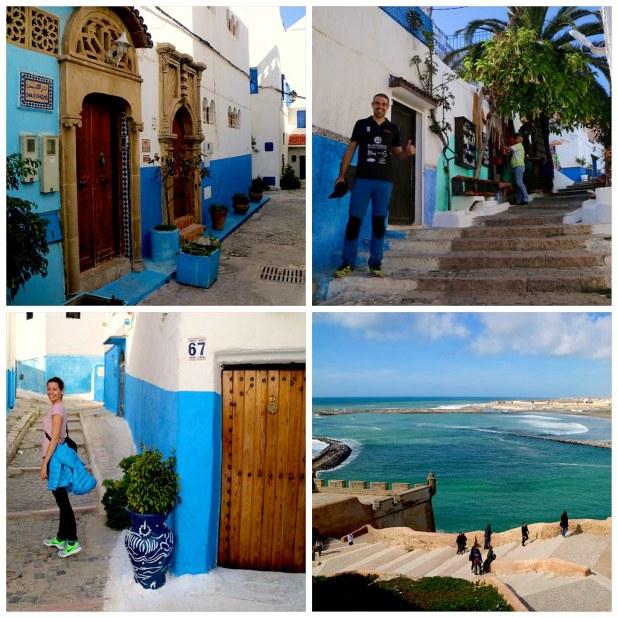 Casas azules en Rabat, Oudayas