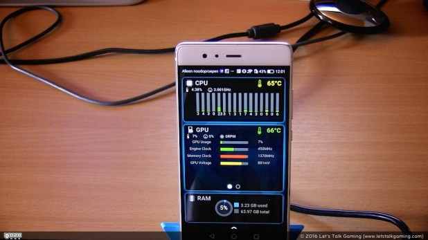 ARX Control app gives you a quick overview of your PC's CPU, GPU and RAM usage.