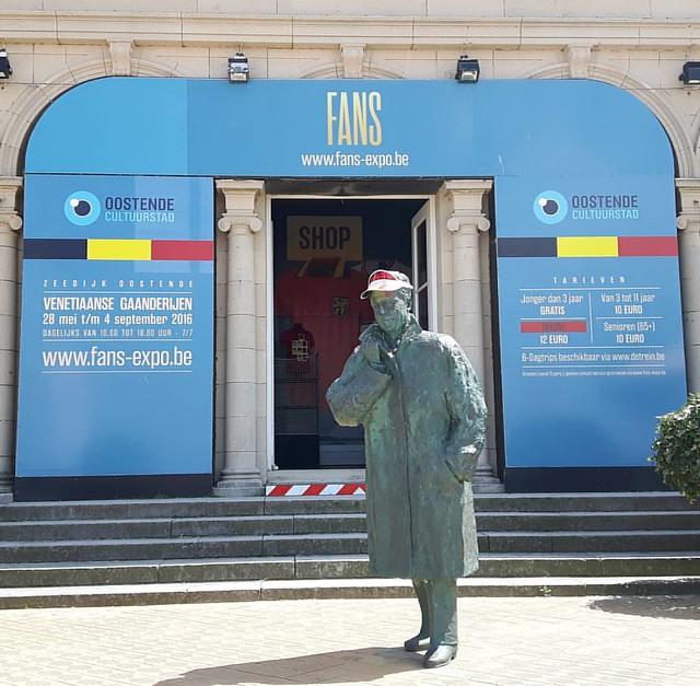 Tentoonstelling in Oostende - fans