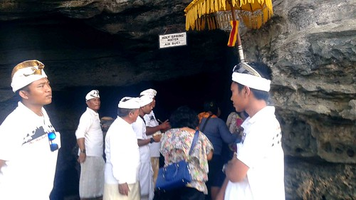 Holy Spring beneath Tanah Lot