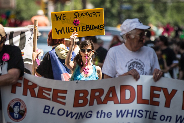 We Support Whistleblowers / Free Bradley Manning / Twin Cities Pride Parade