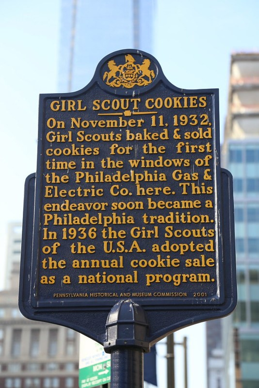 Historical Marker for Girl Scout Cookies
