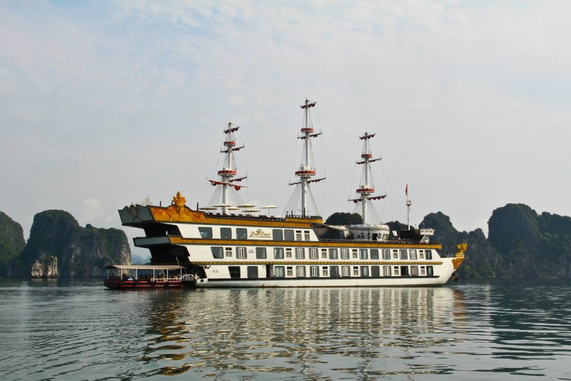 Ha Long Bay is overrun with tourist boats, but on our cruise to stunning Bai Tu Long Bay on the Dragon Legend we only saw three others!