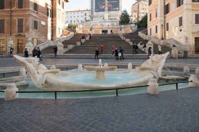 A fairly empty spanish steps rome italy