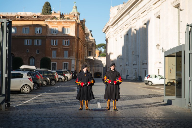 Swiss guards vatican city rome italy