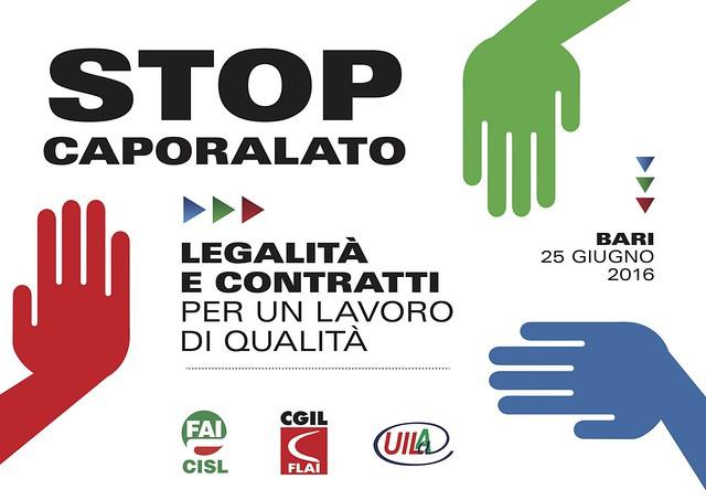 Stop Caporalato - Bari, 25 giugno
