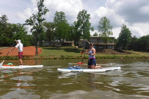 Kayaking and SUP on Saluda Lake-6