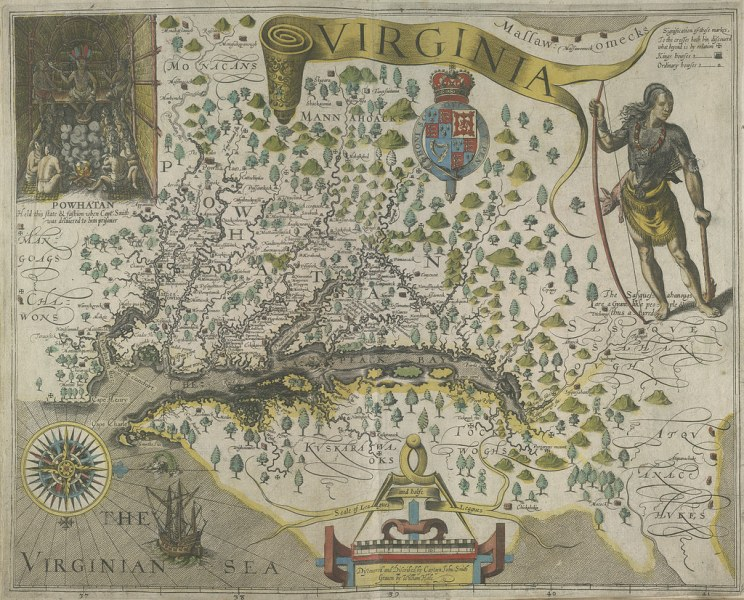 Travels through Virginia   From Theodor de Bry s  America       Flickr I Travels through Virginia   From Theodor de Bry s  America   Vol  I