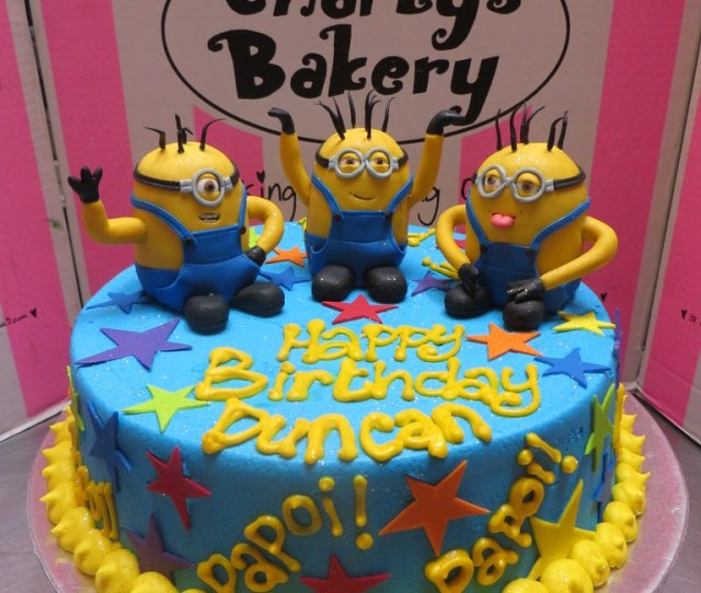 Minion Birthday Cake By Charlys Bakery