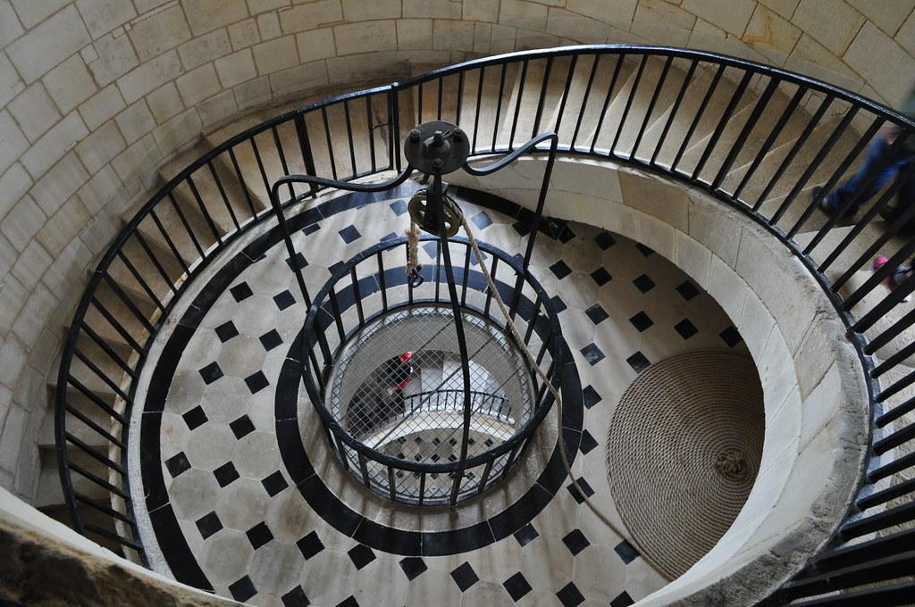 Montée à la lanterne (XVIIIe), phare de Cordouan, Le Verdon-sur-Mer, Médoc, Gironde, Aquitaine, France.