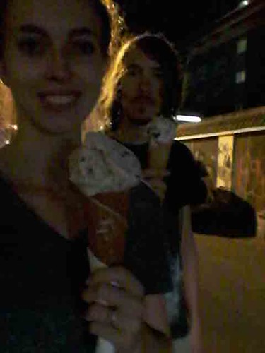 Walking with our Ice cream