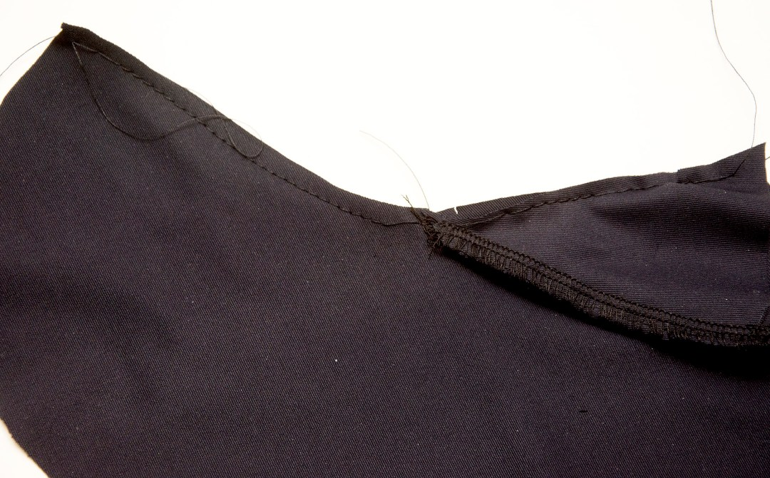 Attaching a triangle crotch gusset in three easy steps