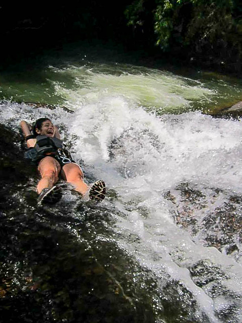 Rock waterslide - Canyoning in Dalat