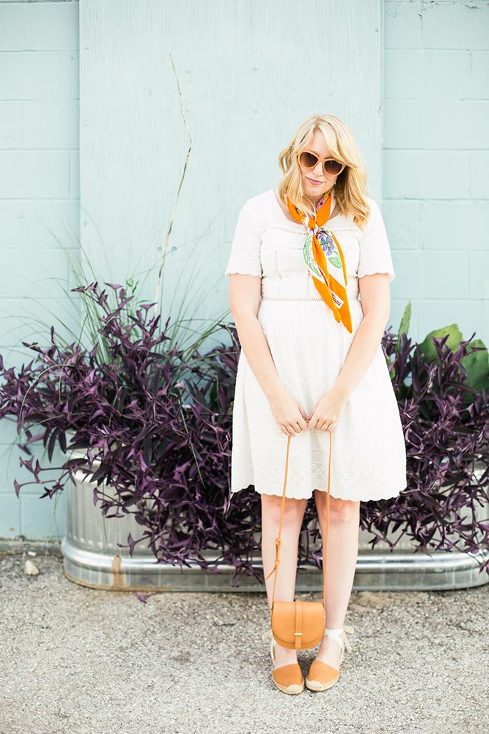 white dress vintage scarf14