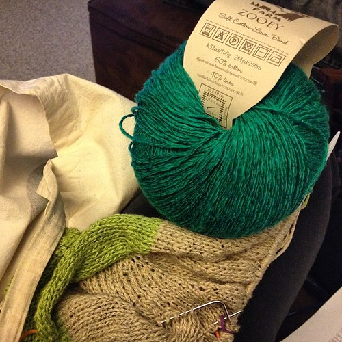 It's finally time to start knitting with the color that inspired this project!