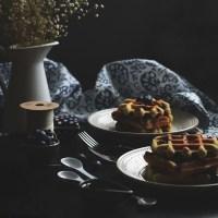 blueberry - lemon almond waffles (gf)