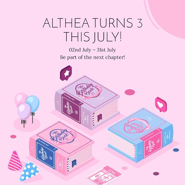 Althea Turns 3 Birthday Book