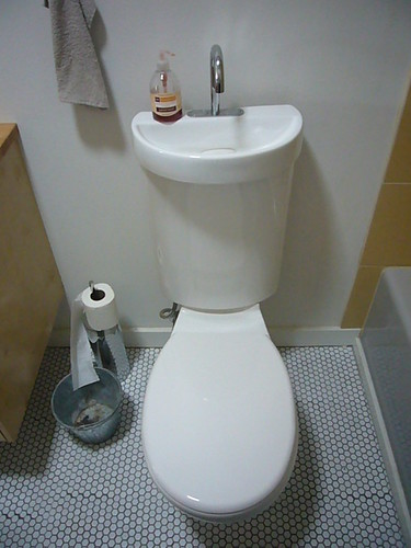 2 In 1 Toilet Sink Combo When You Flush Water From The