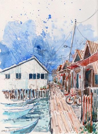 Watercolors of Penang by Paul Wang