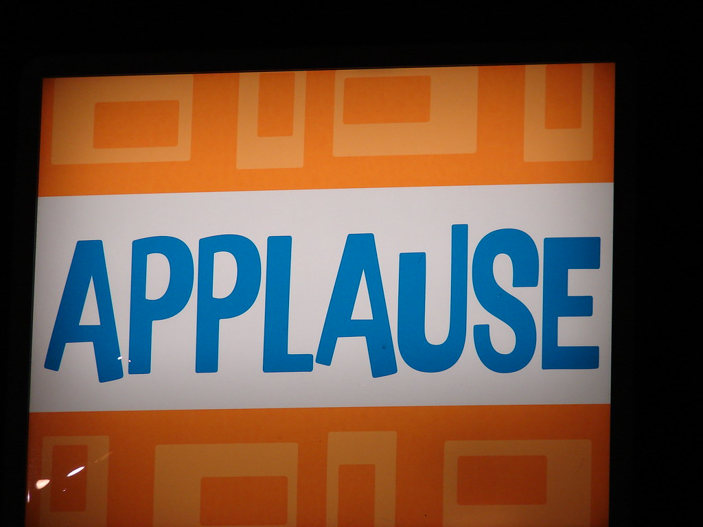 Applause Sign Applause Sign On The Set Of Thanks For