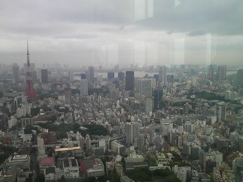 六本木ヒルズからの景観(東京タワーとフジテレビ)