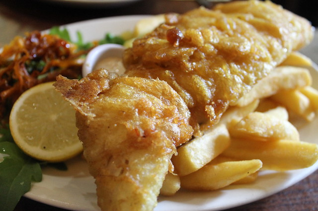 Comer en Edimburgo: Fish and chips, en 'World's End'
