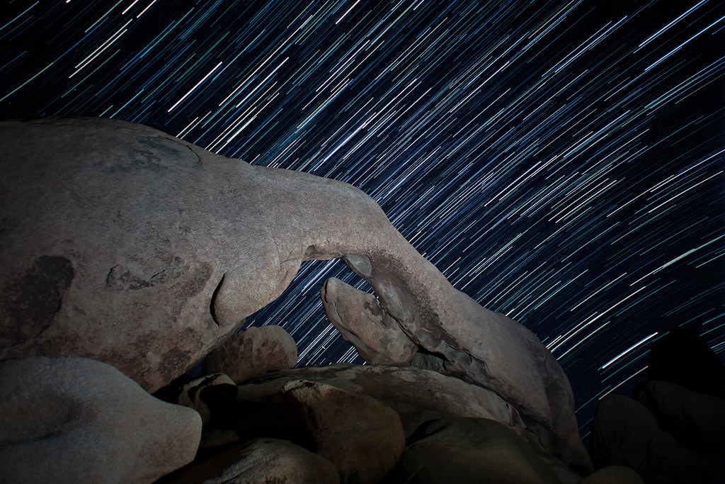 Arch Rock Startrail Arch Rock Joshua Tree National Park