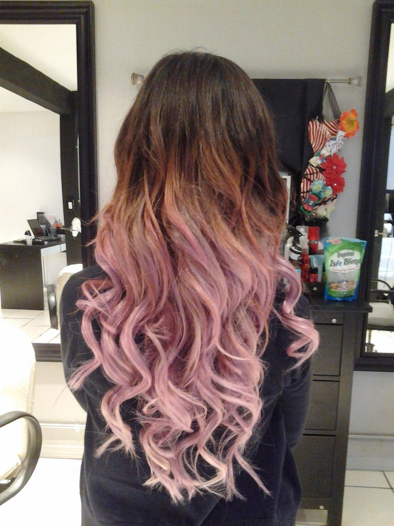 Brown To Light Pink Ombre Hairdresseronfire7 Flickr