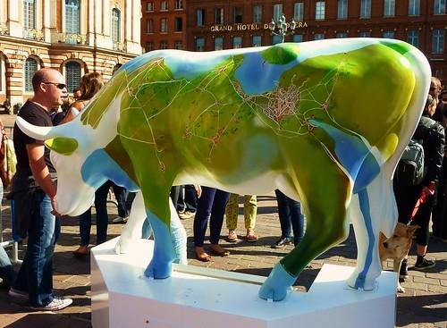 Cow Parade Toulouse Cow 48 Lucia Cow De Valentina Chambr