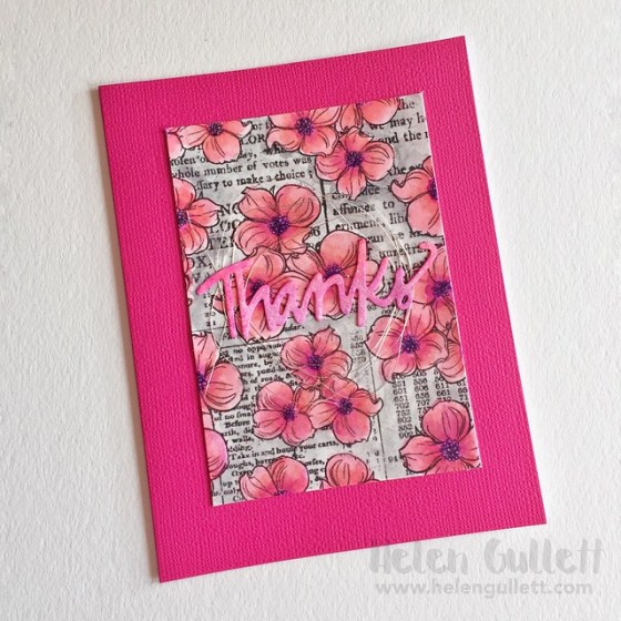 Color Blooms - Monochromatic Thank You Card