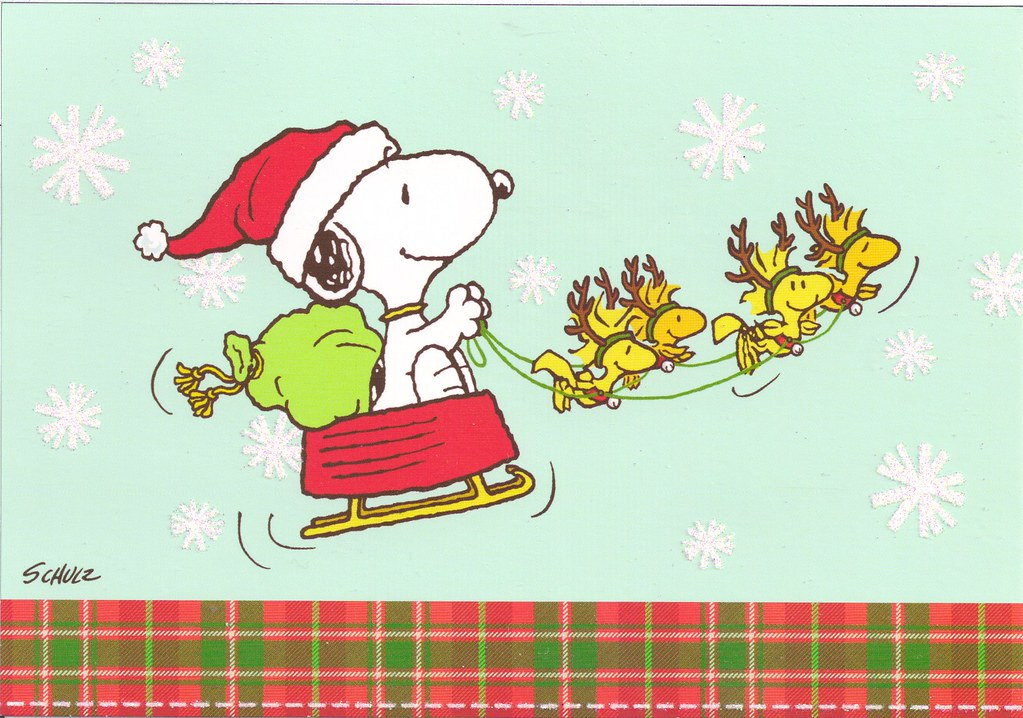 Snoopy Christmas Sleigh Mailbox Happiness Angee At
