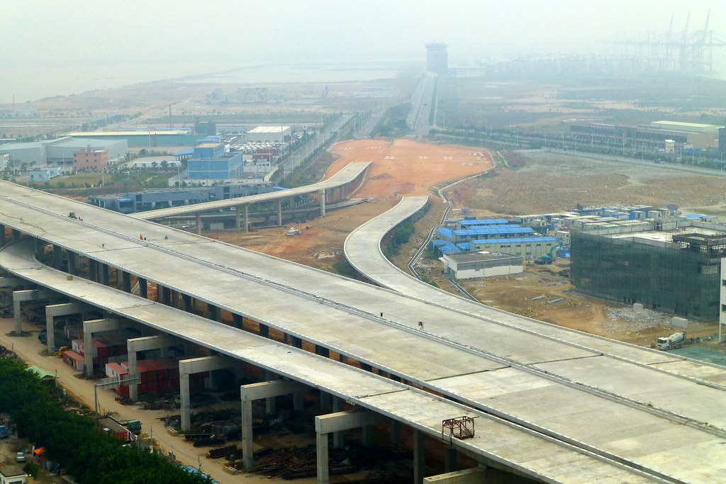 New Airport Highway Construction Shenzhen China Its Almos Flickr