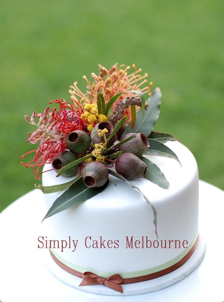 Australian Native Cake Topper 6 Round Cake With