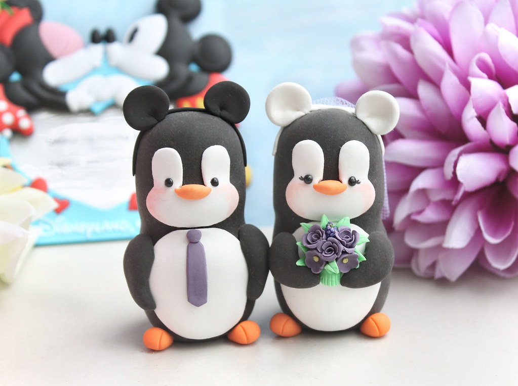 Mickey Mouse Ears Headband Penguins Cake Toppers Unique