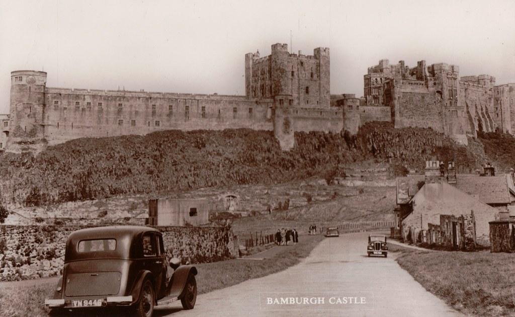 Old Postcard Of Bamburgh Castle SCAN0669 Bamburgh Castle Flickr