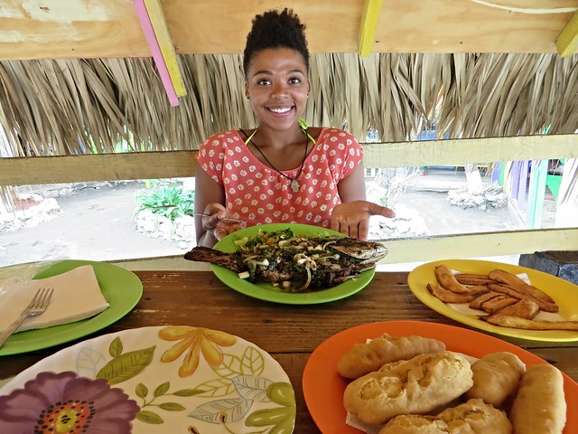jerk snapper, little ochi restaurant, alligator pond, jamaica, best restaurants in jamaica, best food in jamaica, authentic jamaican food, jamaican food