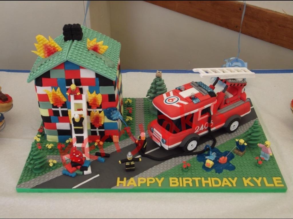 Lego City Fire Cake