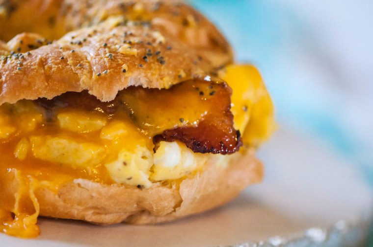 Baked Brekfast Croissant Sandwiches 8