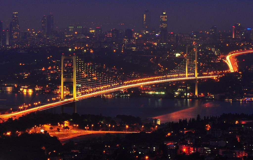 Bosphorus Bridge Beautiful View From Camlica Hill